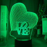 Lampe illusion d'optique 3D LoVe