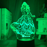 Lampe 3D led Princesse Belle