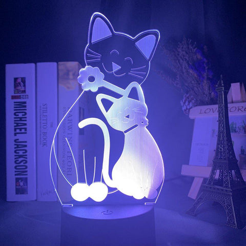 Lampe 3D Chat Amour