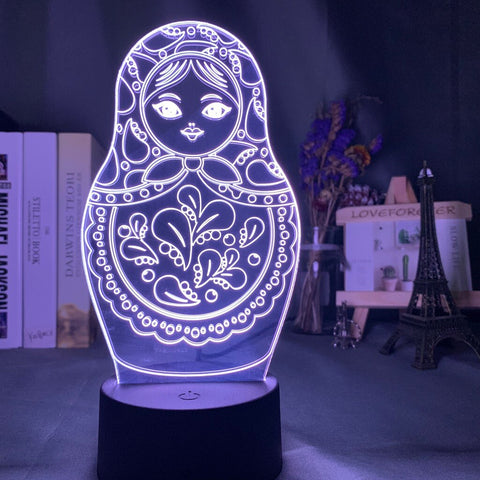 Lampe 3D Matriochka