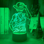 Lampe hologramme 3D Monkey D. Luffy One Piece