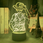 Lampe 3D led Monkey D. Luffy One Piece