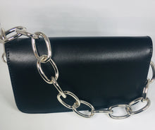 Load image into Gallery viewer, Black Handbag with Chain Link