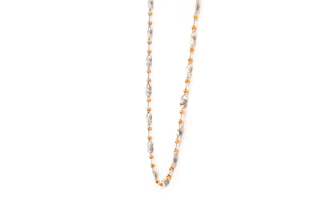 Rose Gold Vertical boll chain for Women's