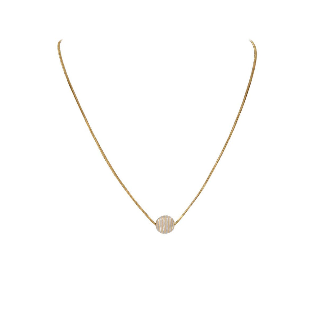 Kanishq The Marvin 22k (916) Yellow Gold Chain for Women