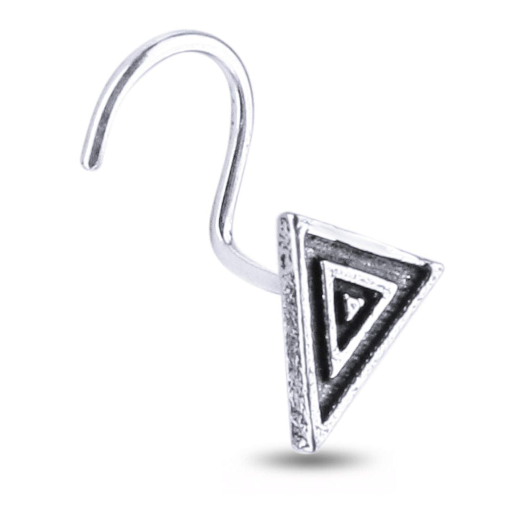 Monica 925 sterling Silver Antique oxidised Nose Pin for womens