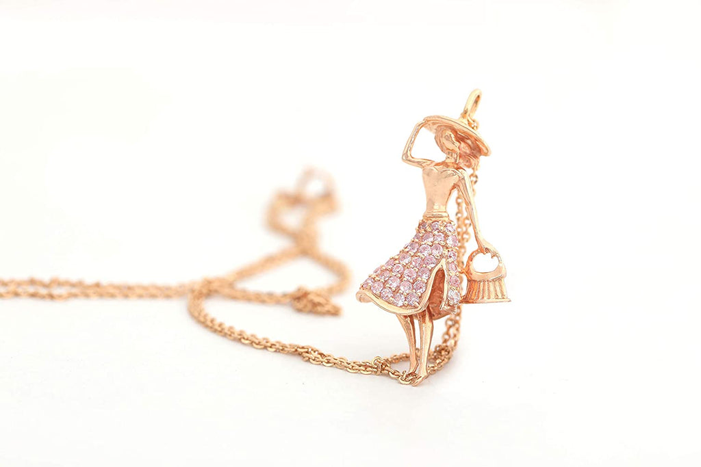 Kanishq Rose Gold 18Kt (750) Baby Doll Princess Statue Chain