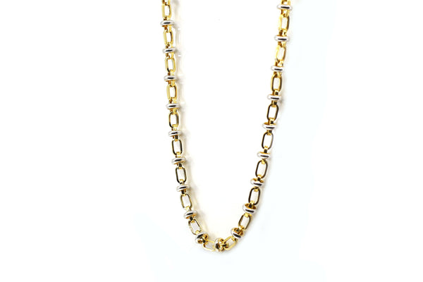 Yellow Gold White Gold Chain