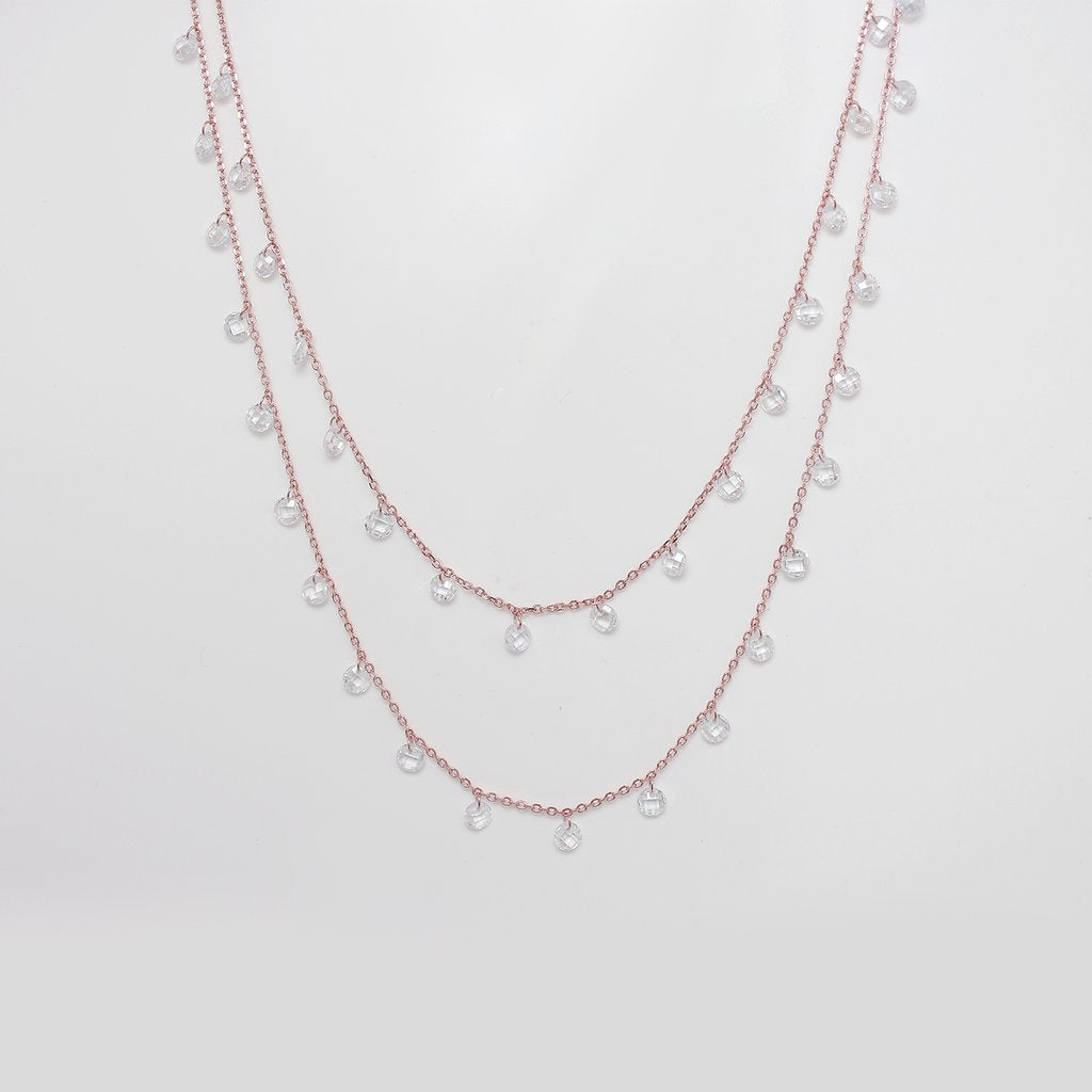 Trishty® Rose Gold Layered Queens Necklace