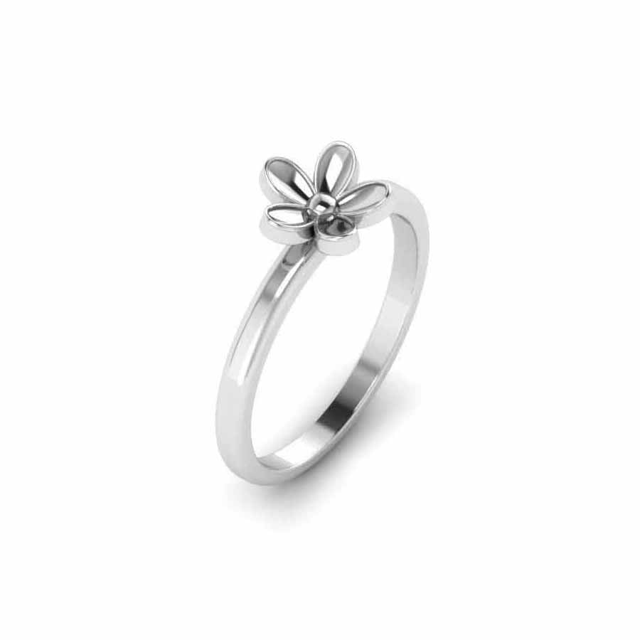 Pure Platinum Studded Ring For Women's & Girl's