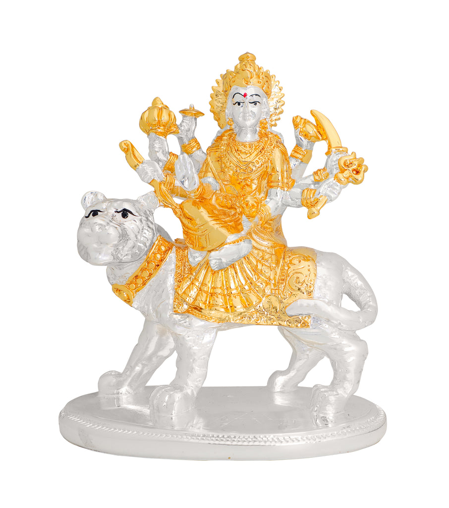 Lord Ambe Maa Murti 999 Gold & Silver Plated