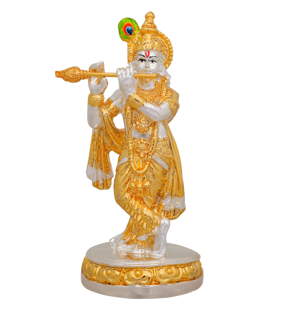 Lord Krishna Murti 999 Gold & Silver Plated
