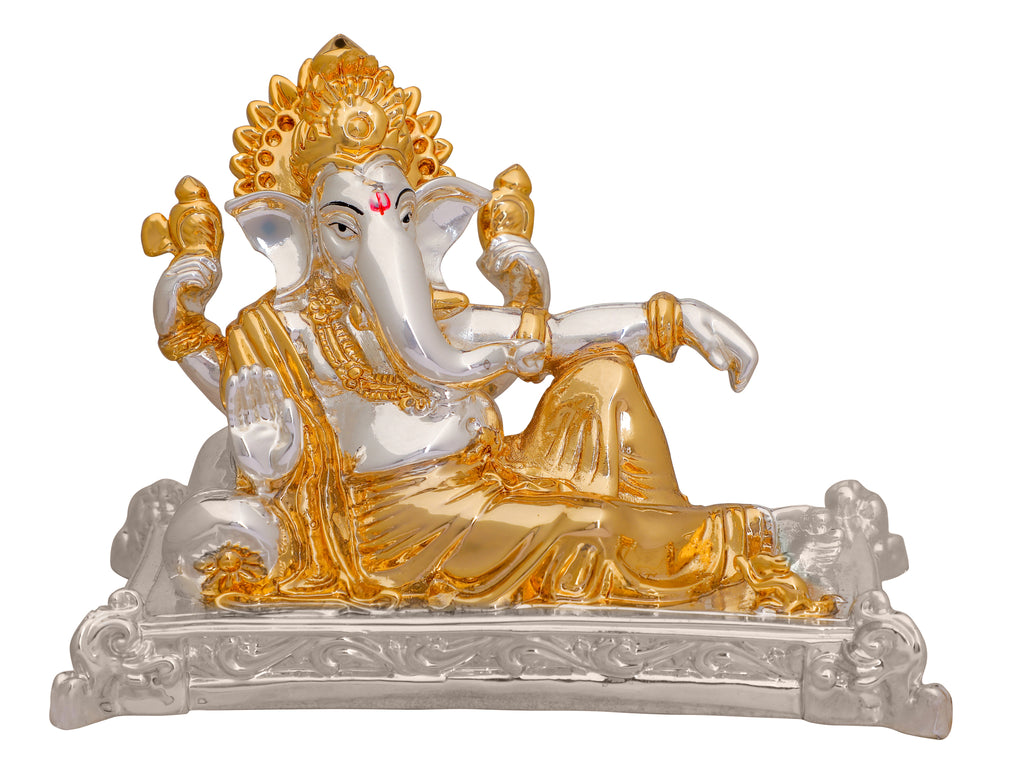 Lord Ganesh Murti 999 Gold & Silver Plated