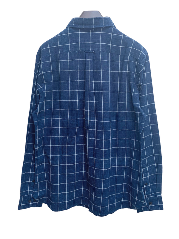 Kabir Sport Shirt in Blue Big Checks
