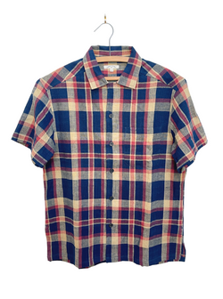 Archie Shirt in Navy Madras Plaid