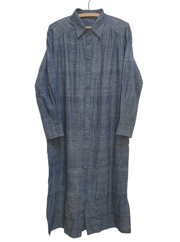 Long Shirtdress in Chambray