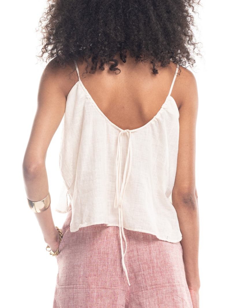 Nina Camisole Strapy Top in Natural