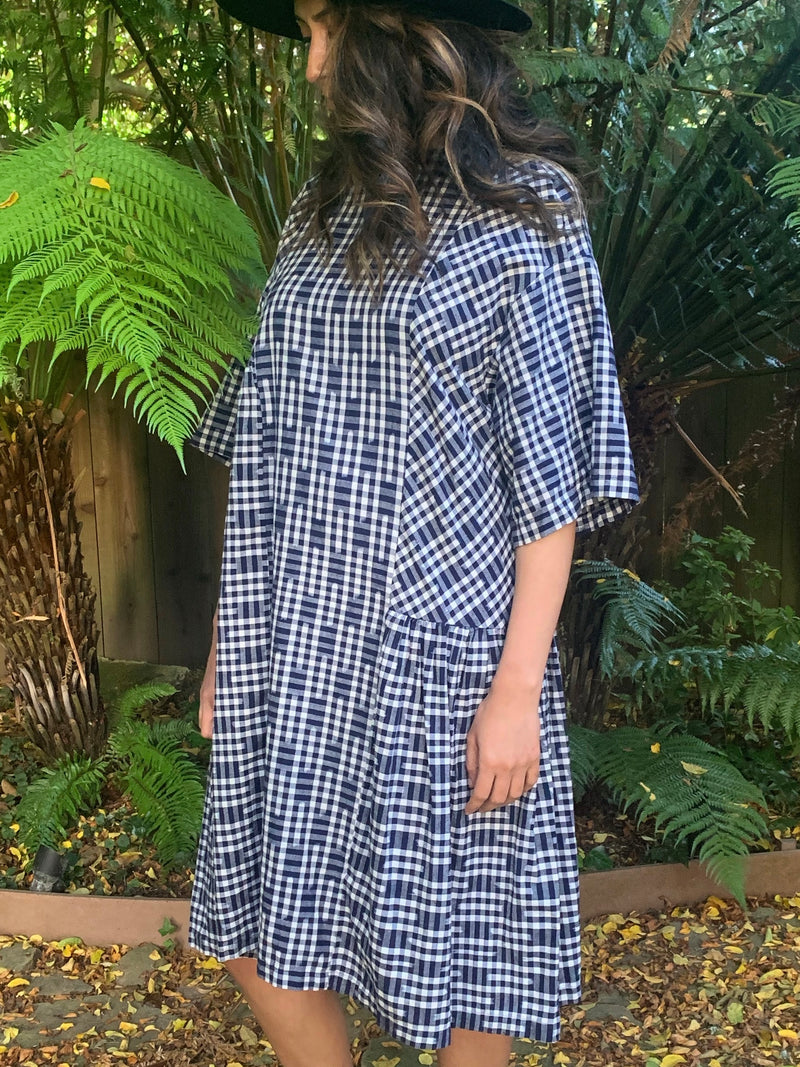 May Boxy Dress in Ikat