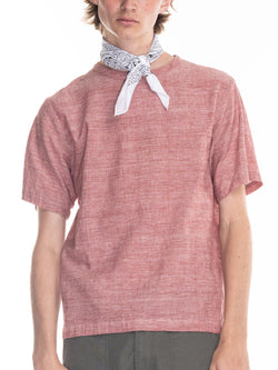 Justice Woven T in  Pink Chambray