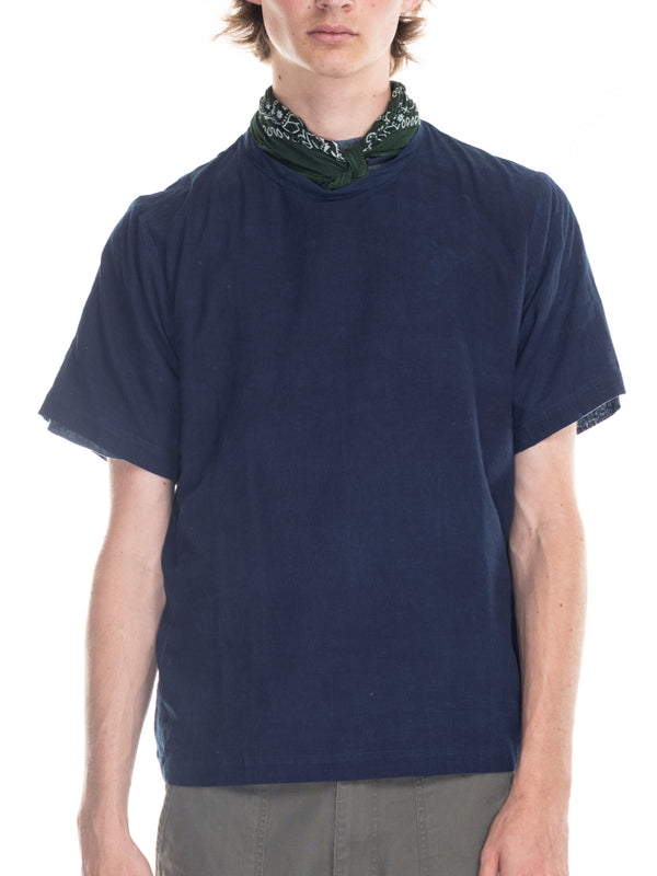 Justice Woven T in Indigo Lawn