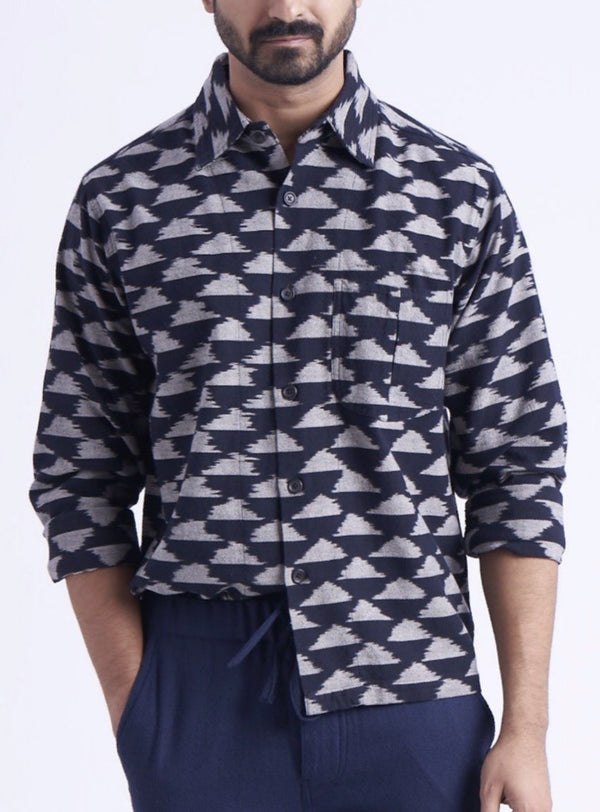 Smith Shirt in Cloud Ikat