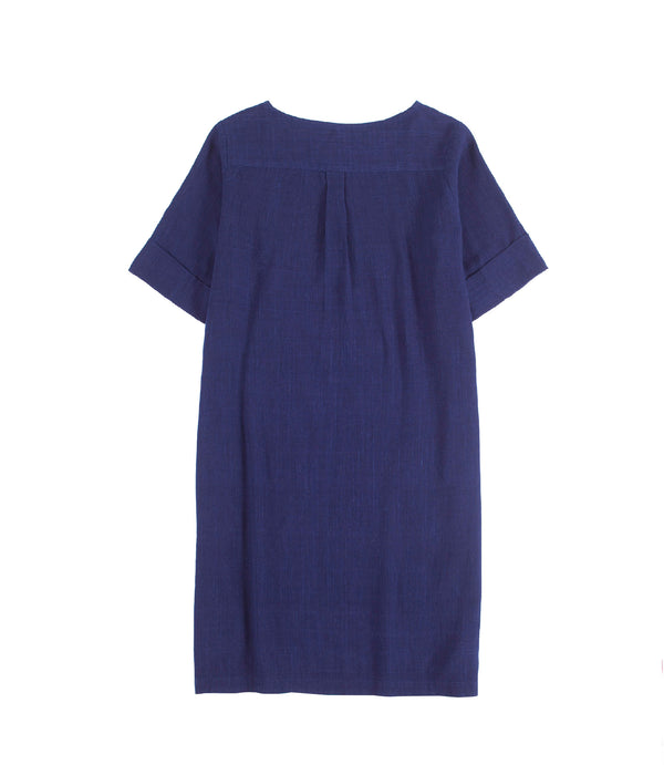 Maya Sack Dress Indigo
