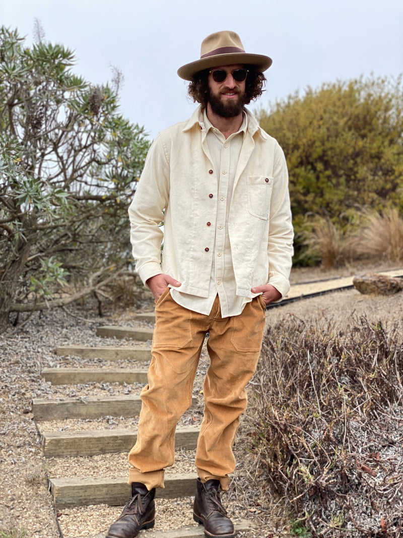 Smith Shirt in Ivory Corduroy