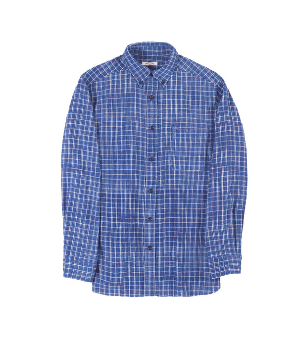 Kabir Sport Shirt Indigo Plaid