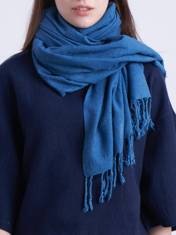 Eri Silk Scarf in Indigo