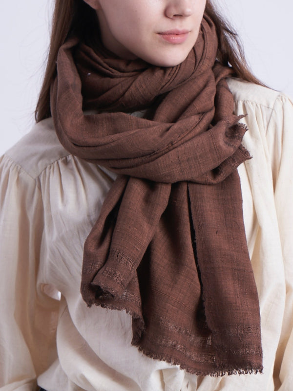 Silk Scarf in Mocha
