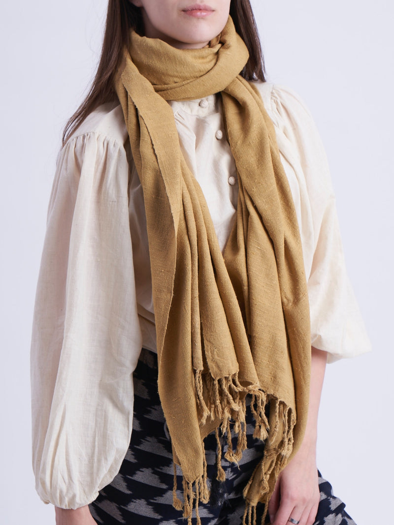 Eri Silk Scarf in Rust