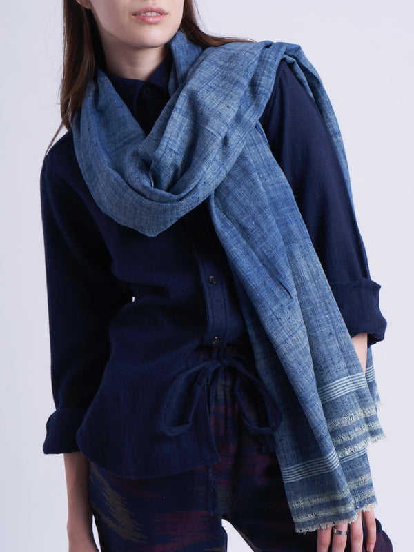 Silk Light Indigo Scarf
