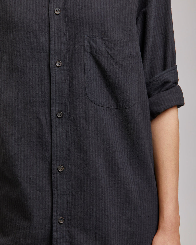 Kabir Sport Shirt in Black Stripe