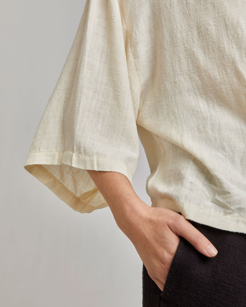 May Boxy Tee in Ivory