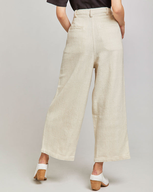 Miranda Pleated Pant in Ivory