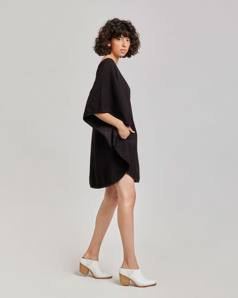 Ava Circle Dress in Black