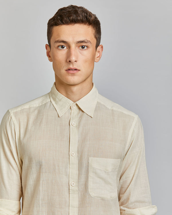 Kabir Sport Shirt in Ivory