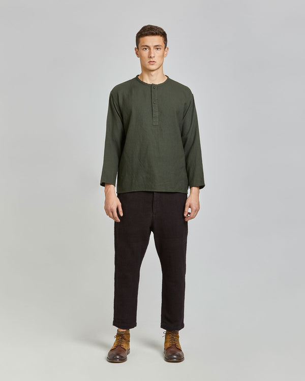 Henry Henley Popover in Army Green