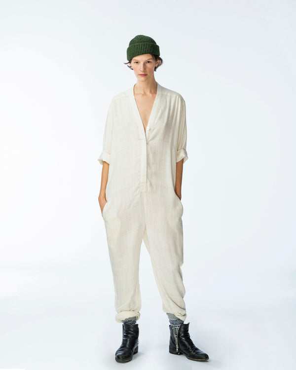 Charlie Jumpsuit in Ivory