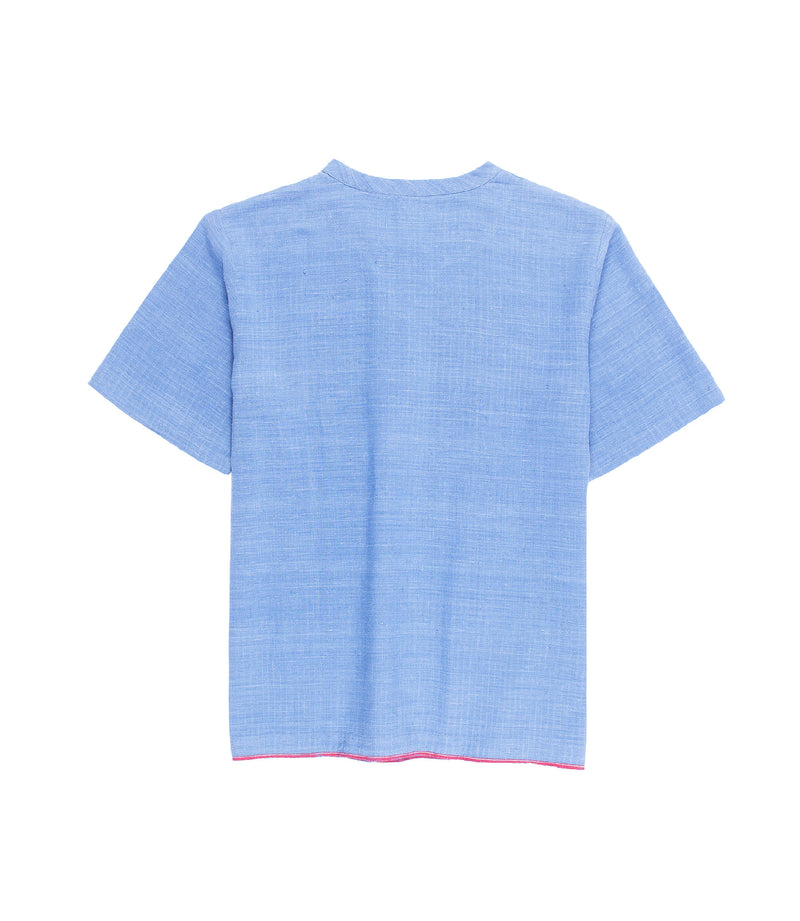 Justice Woven Tee Blue
