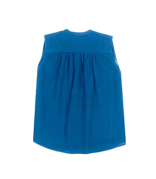 Aileen sleeveless shirt Blue