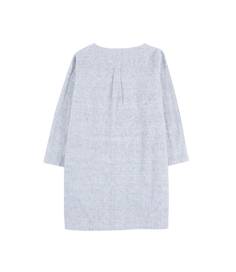 Emily Dress Indigo Gauze