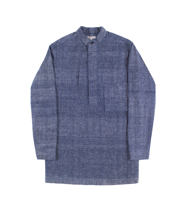Karl Band Shirt Indigo Chambray