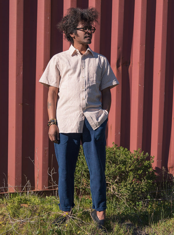 S/S Kabir Shirt in Red Stripe Kora