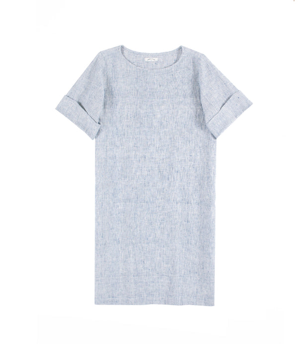 Maya Sack Dress Indigo Gauze