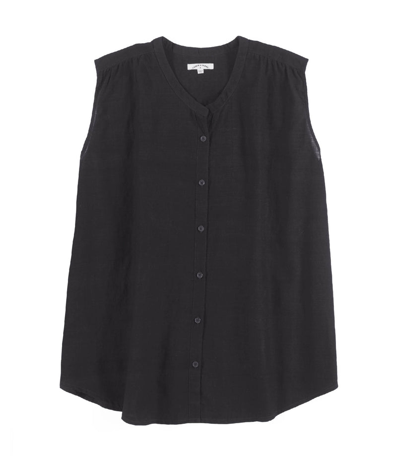 Aileen Sleeveless Shirt Black