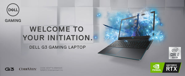 "Dell G3 3500-GAMING Core™ i7-10750H 2.6GHz 512GB SSD 16GB 15.6"" (1920x1080) 144Hz BT WIN10 Webcam NVIDIA® RTX 2060 6144MB BLACK Backlit Keyboard"