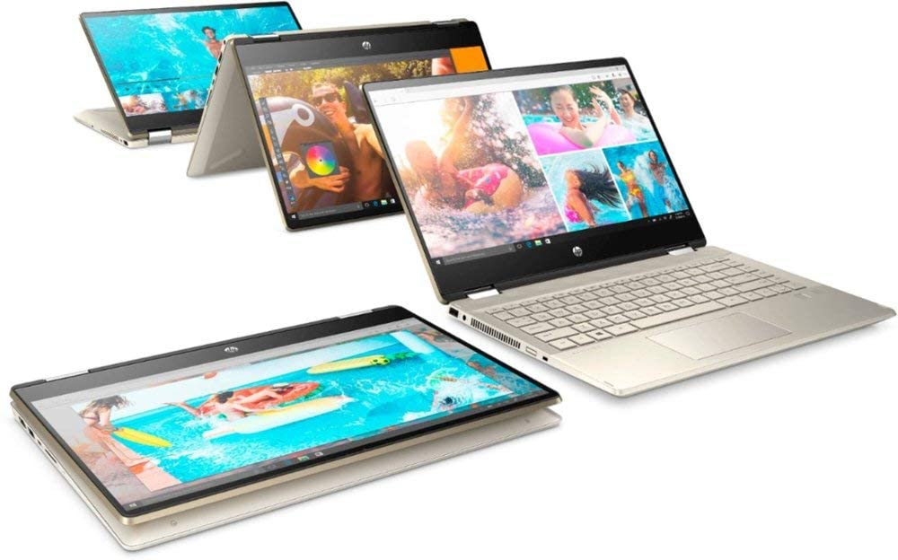 "HP Pavilion x360 14M-2-IN-1 Core™ i3-1005G1 1.2GHz 128GB SSD 8GB 14"" (1366x768) TOUCHSCREEN BT WIN10 Webcam LUMINOUS GOLD"