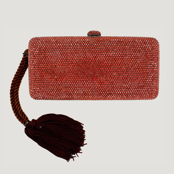 Swarovski Crystal Clutch Bag with Tassel