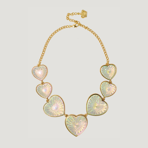 Lucite Heart Necklace
